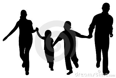 Family Clipart 4 People 2 Sons.