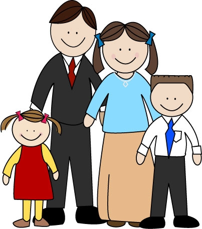 4 person family clipart 1 » Clipart Station.