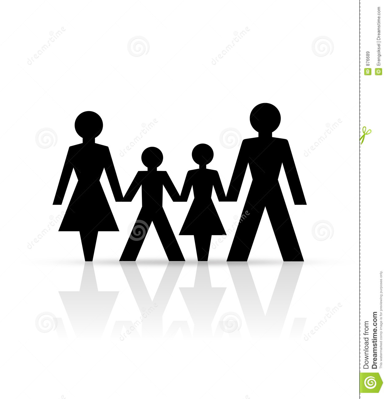 Family Silhouette Clipart.