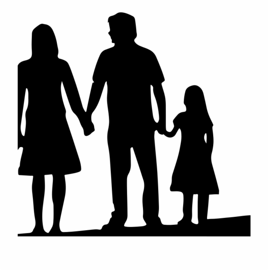 Free Family Silhouette Clip Art 19 4 Person Family.