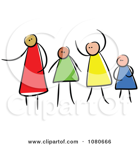 4 person family clipart 2 » Clipart Station.