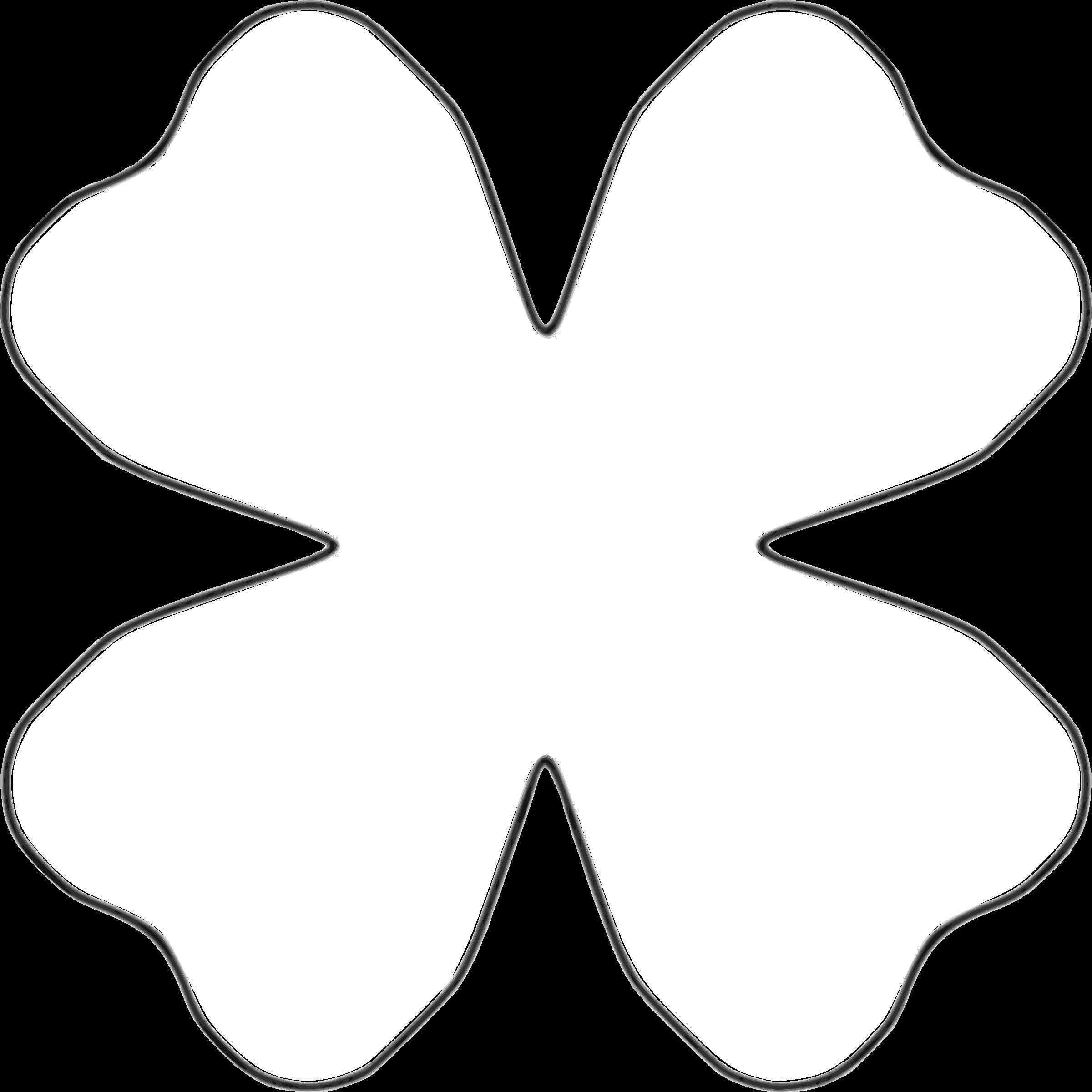 4 petal flower template.