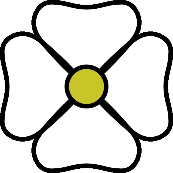 White Flower Clipart White Flower Clip Art At Clker.