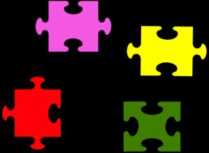4 Pieces Puzzle Clip Art at Clker.com.