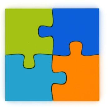 4 piece puzzle clipart.