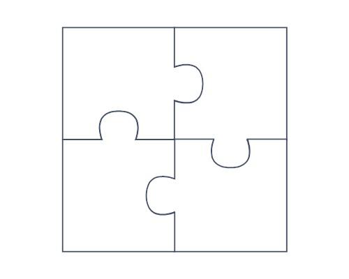 4 piece jigsaw clipart.