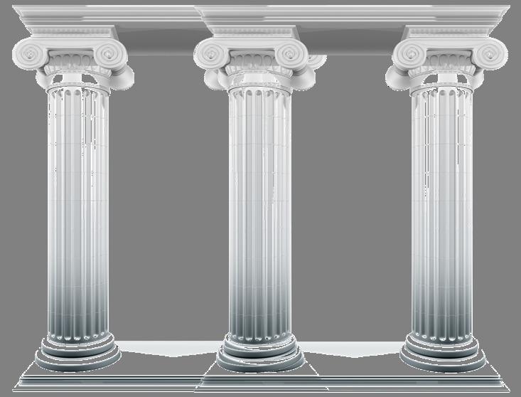 Column clipart four pillars, Column four pillars Transparent.