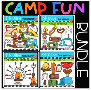 CAMP FUN BUNDLE (P4 Clips Trioriginals) SUMMER CLIPART.