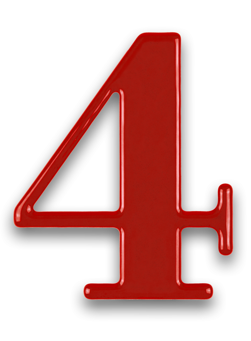 4 Number PNG Pic.
