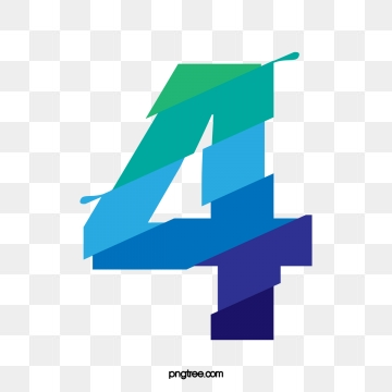 Number 4 PNG Images.