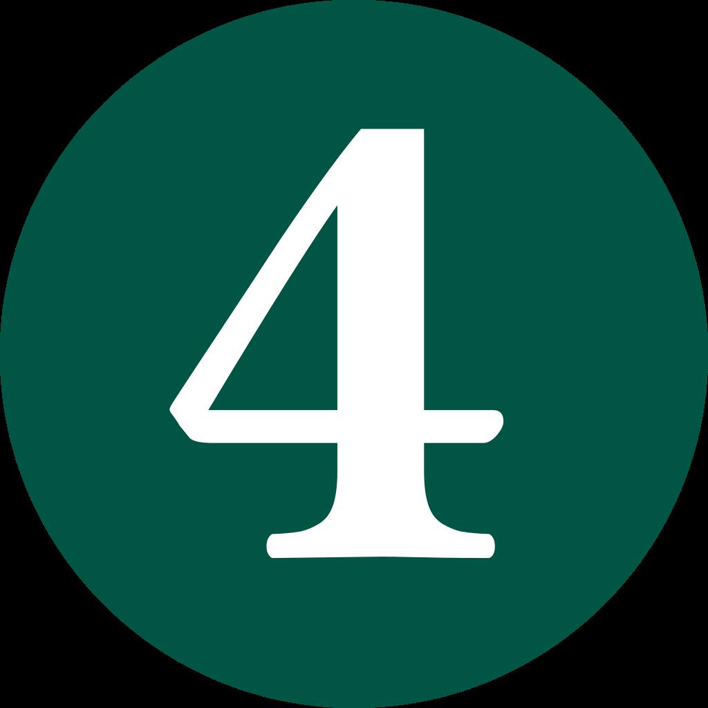Number 4 PNG Transparent Image #3.