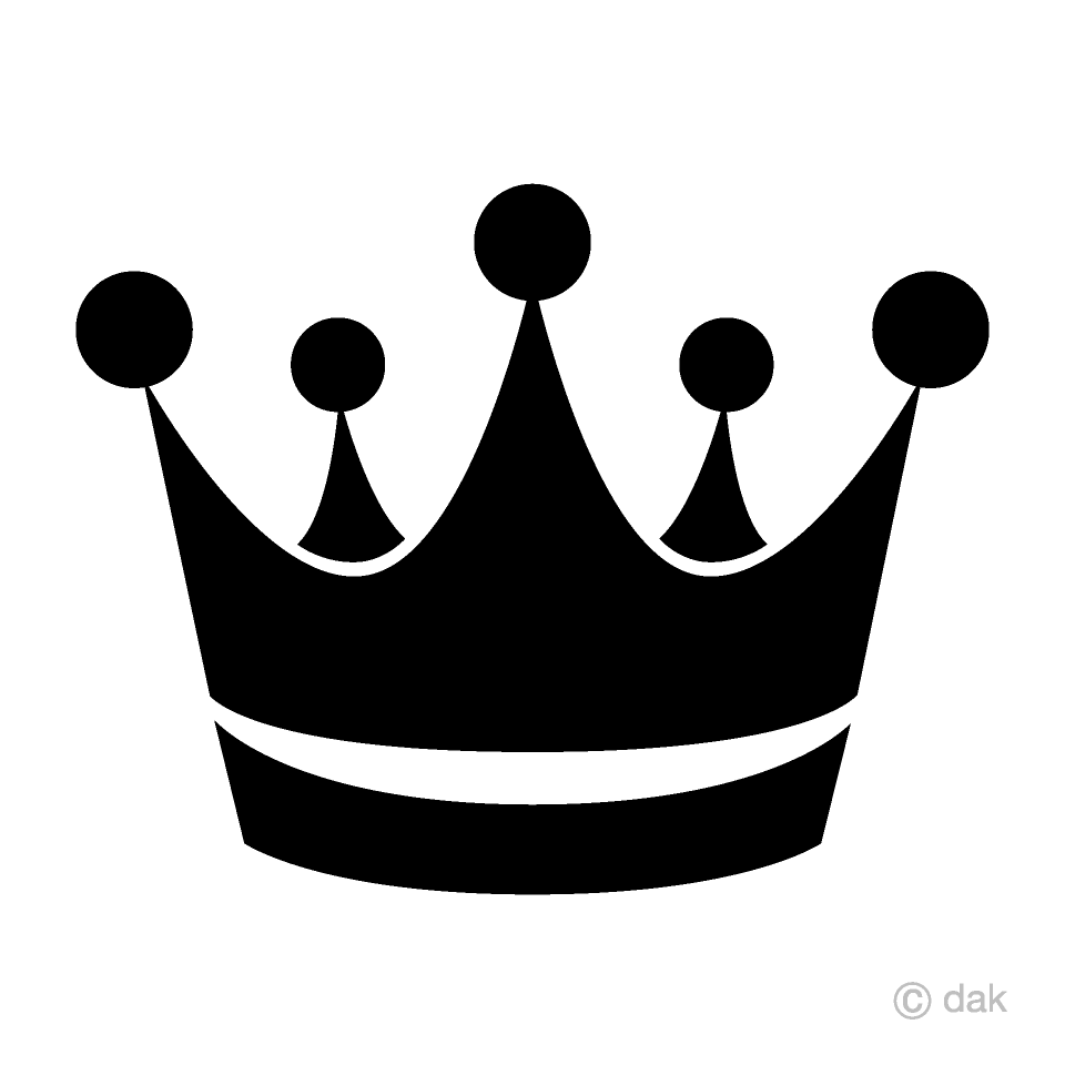 Free King Crown Silhouette Clipart Image|Illustoon.