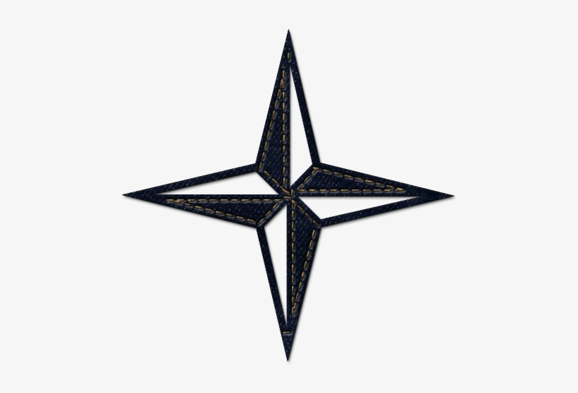 4 Point Nautical Star Clipart.