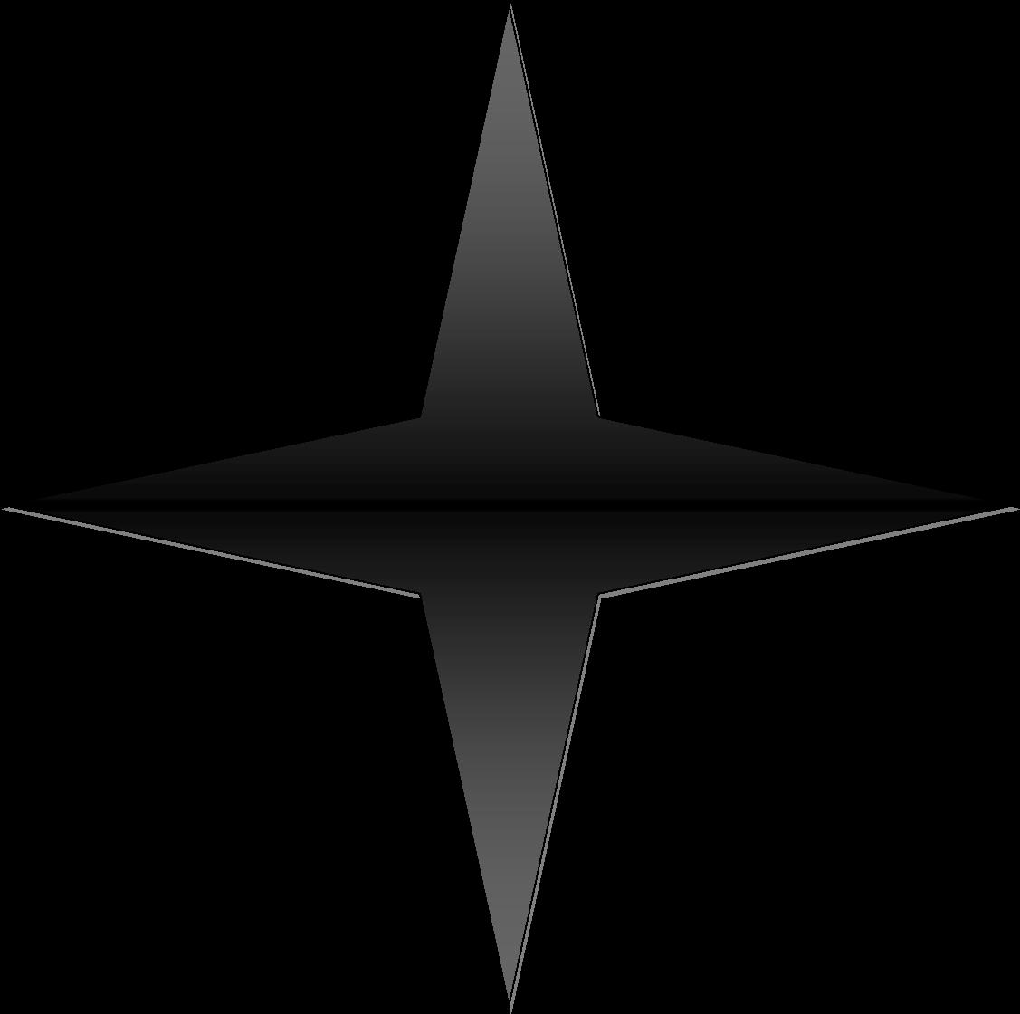Sparkle Clipart Four Pointed Star.