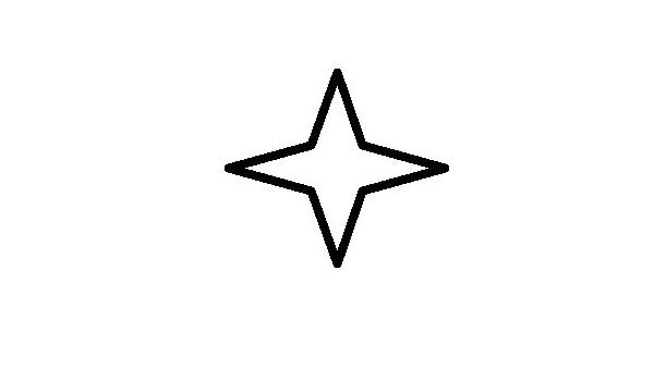 Amazon.com: 4 Point Star Outline Only, Vinyl Car Decal, 'White', '5.