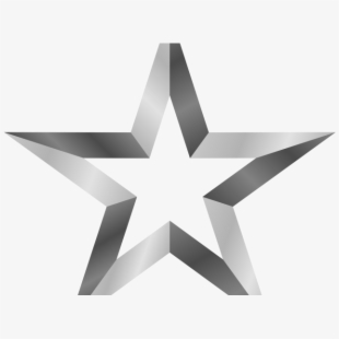 Five Pointed Star Lined.