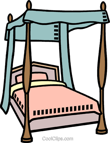 Clipart bed four poster, Clipart bed four poster Transparent.