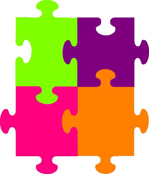Jigsaw Puzzle 4 Pieces Clip Art at Clker.com.