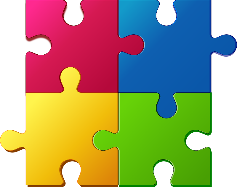 508 Puzzle Pieces free clipart.