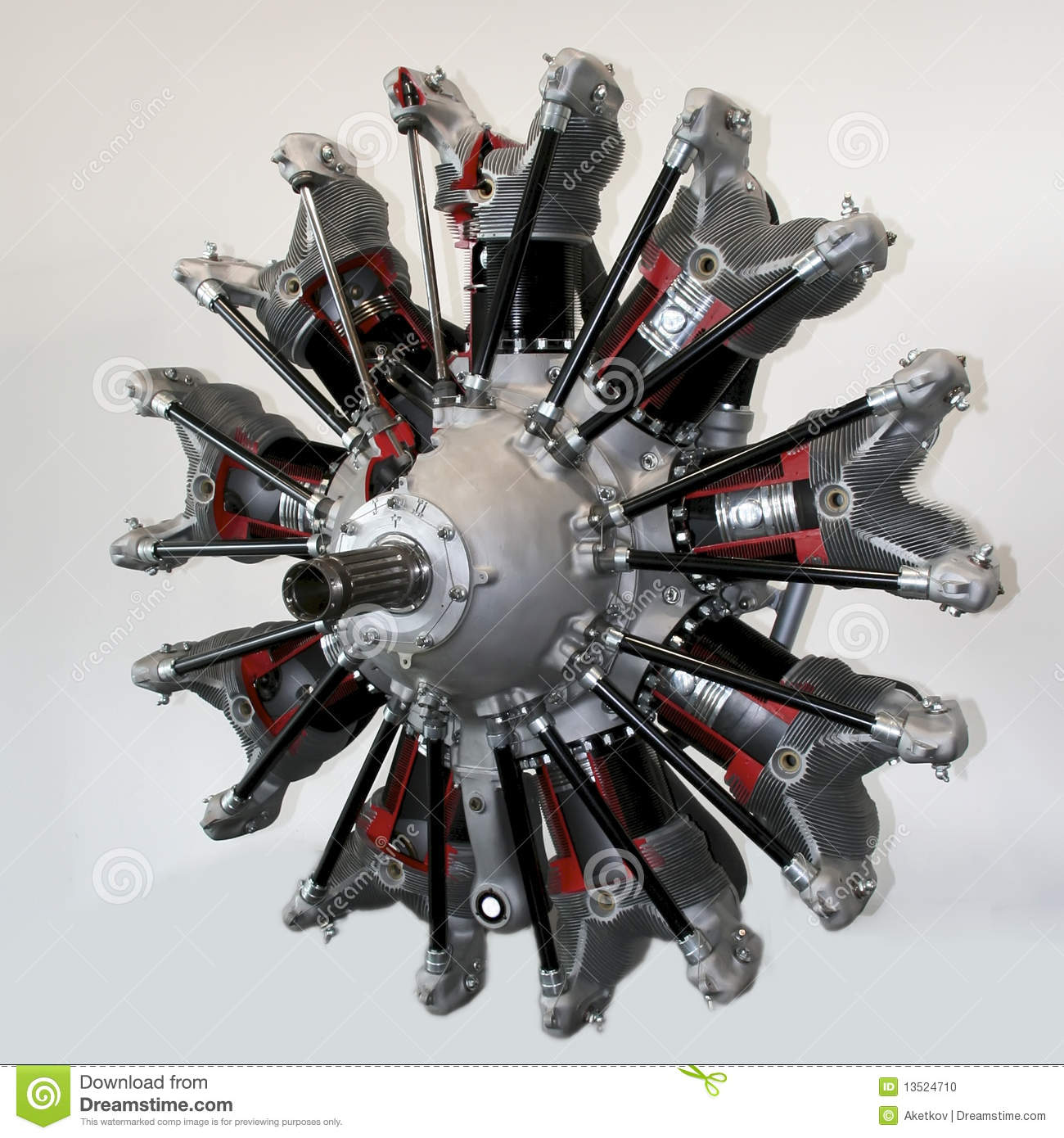 Radial Engine Stock Photos.
