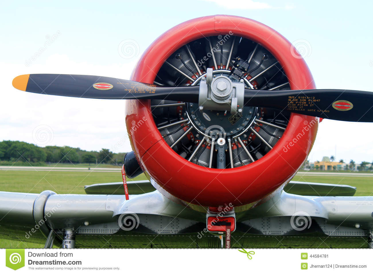 Old American Fighter Plane Engine Editorial Photo.