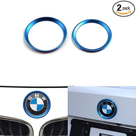 DEMILLO Car Front Rear Logo Decoration Cover Ring Trim Hood Emblem Ring for  2013.