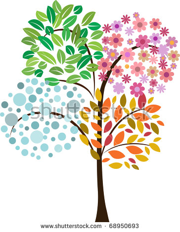 4 Seasons Tree Clipart (73 ).