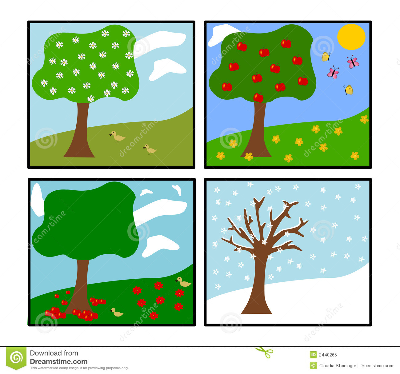 4 seasons clipart 7 » Clipart Station.