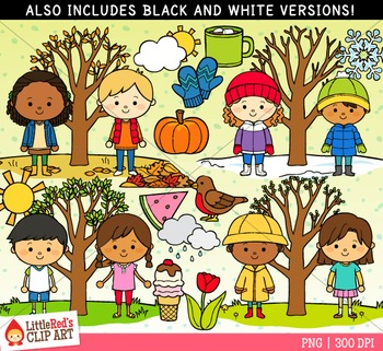 4 Seasons Clipart Worksheets & Teaching Resources.