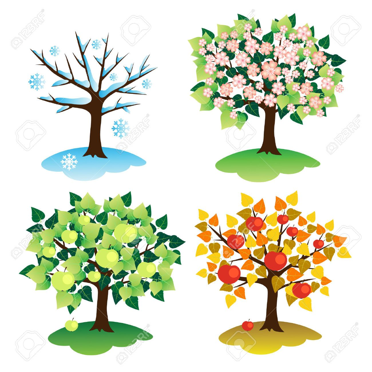 4 seasons clipart 1 » Clipart Station.