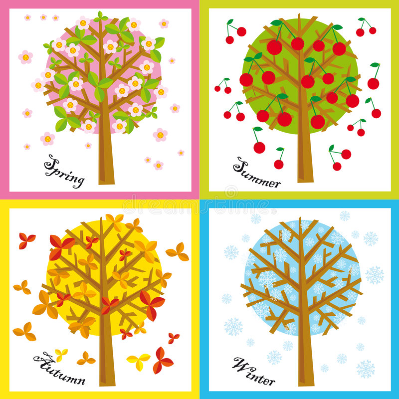 Seasons Stock Illustrations.