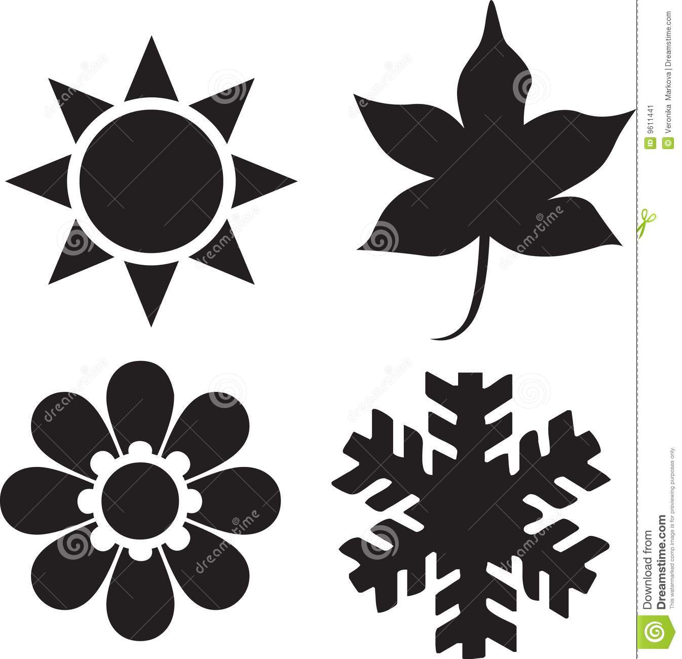 Four Seasons Clipart Black And White.