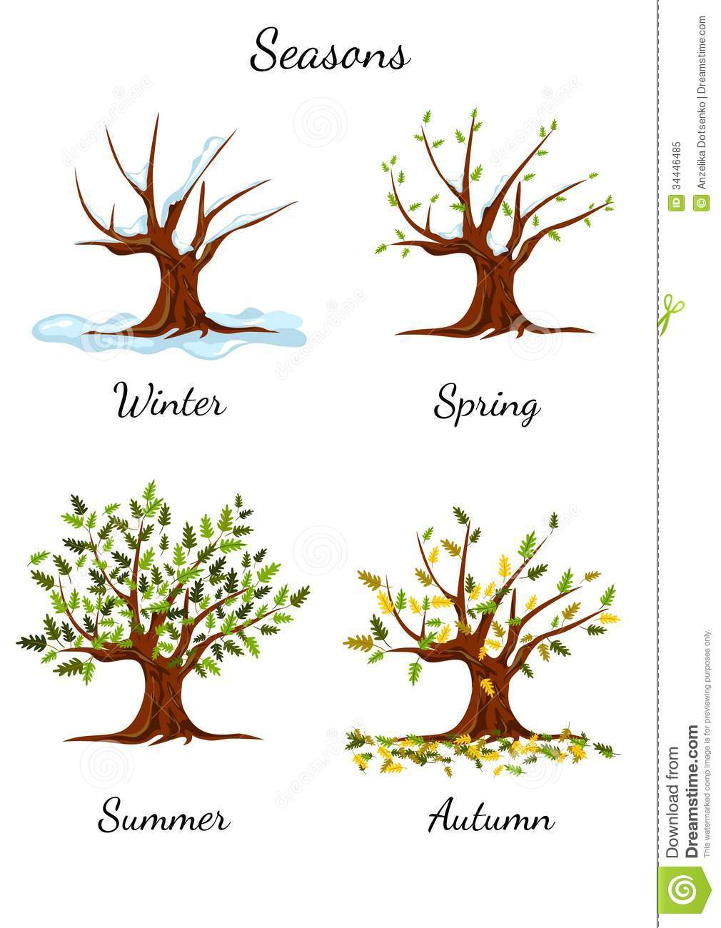 Seasons Black And White Clipart Clipart Kid.
