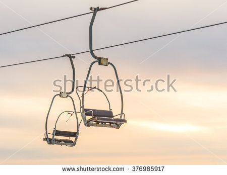 Chairlift Stock Photos, Royalty.