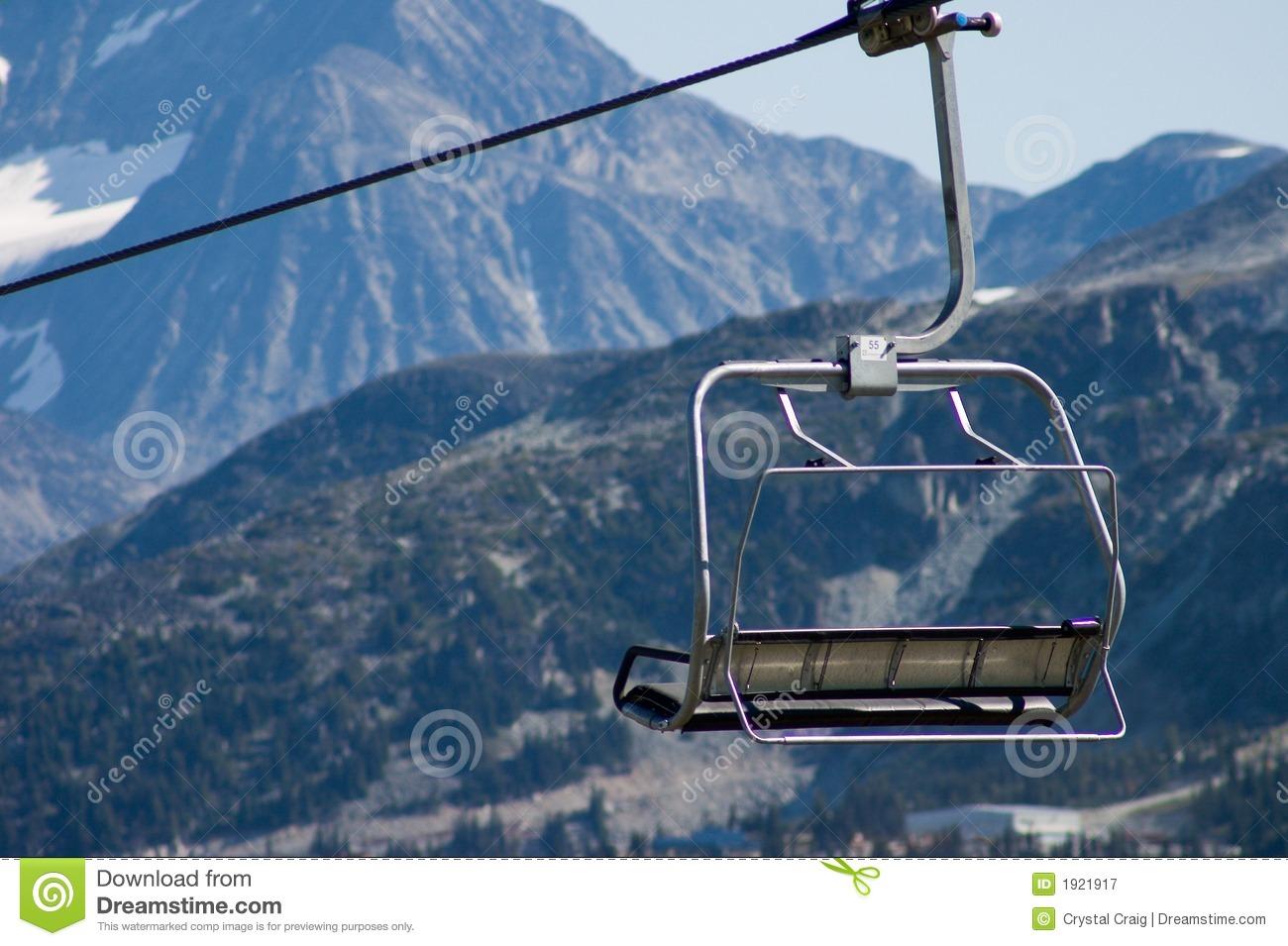 Ski Chair Lift Stock Photos.