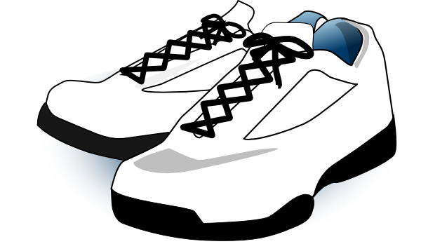 Red tennis shoes clipart 4.