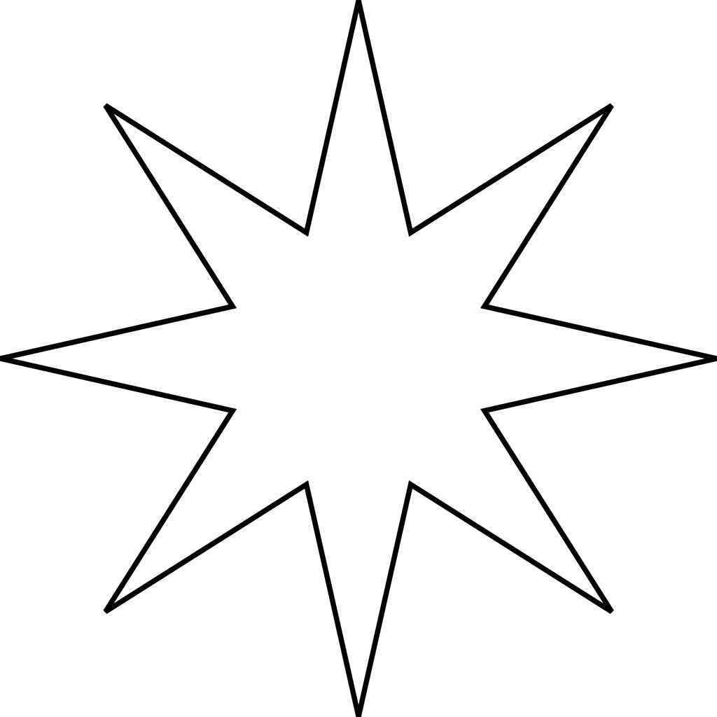 8 pointed star.