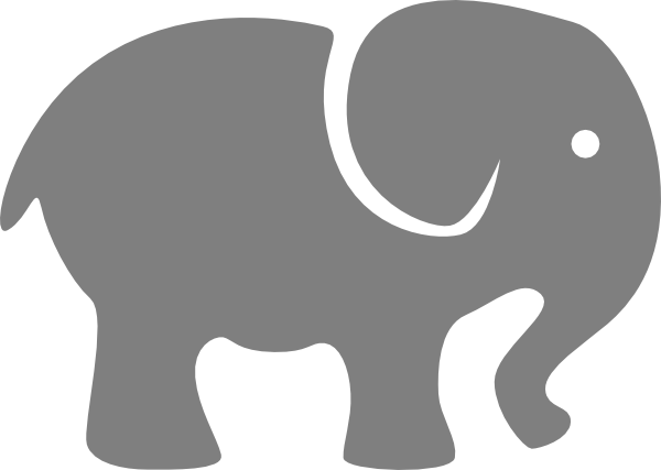 baby room… for side of crib Pink Elephant clip art.
