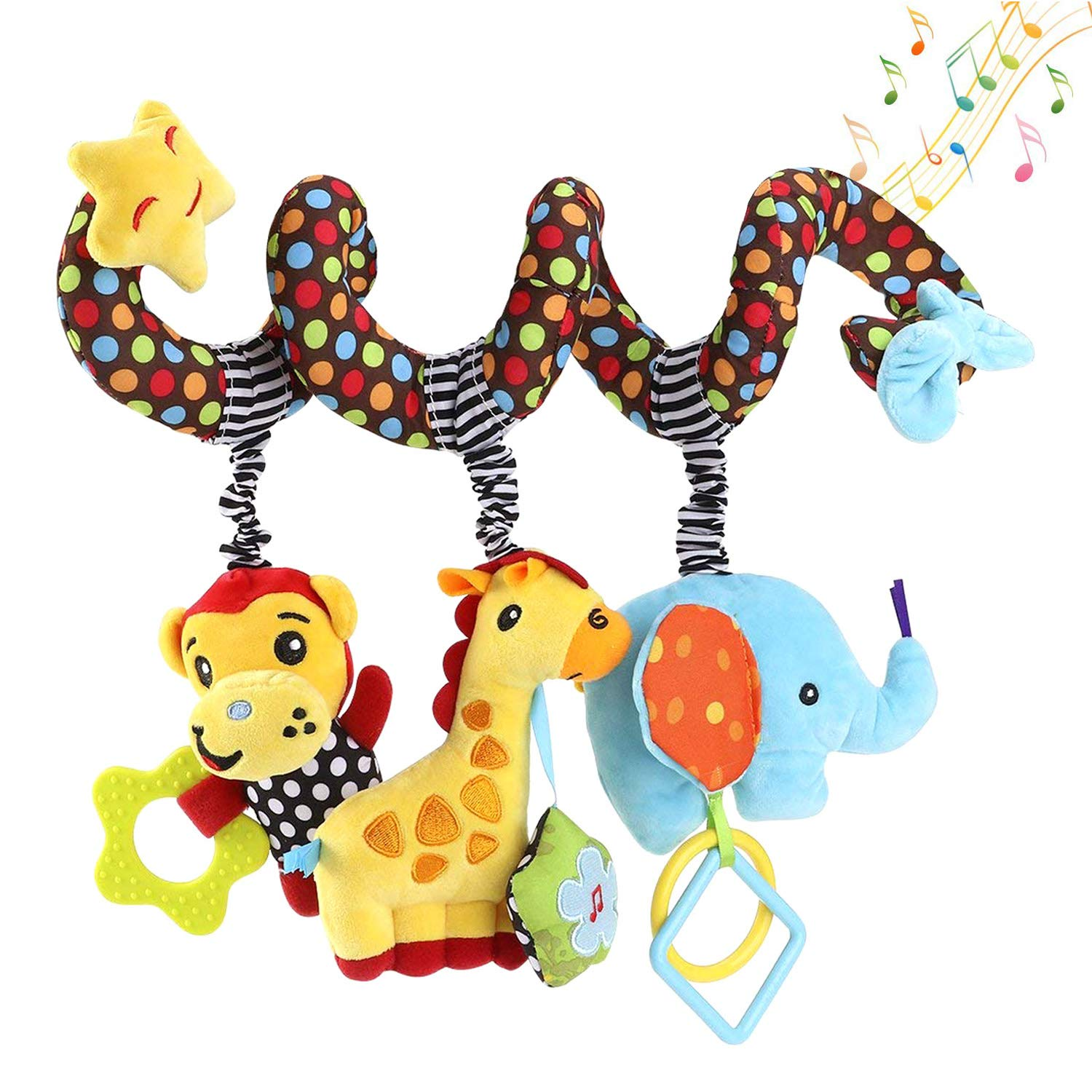 willway Hanging Toys for Car Seat Crib Mobile, Infant Baby Spiral Plush  Toys for Crib Bed Stroller Car Seat Bar.