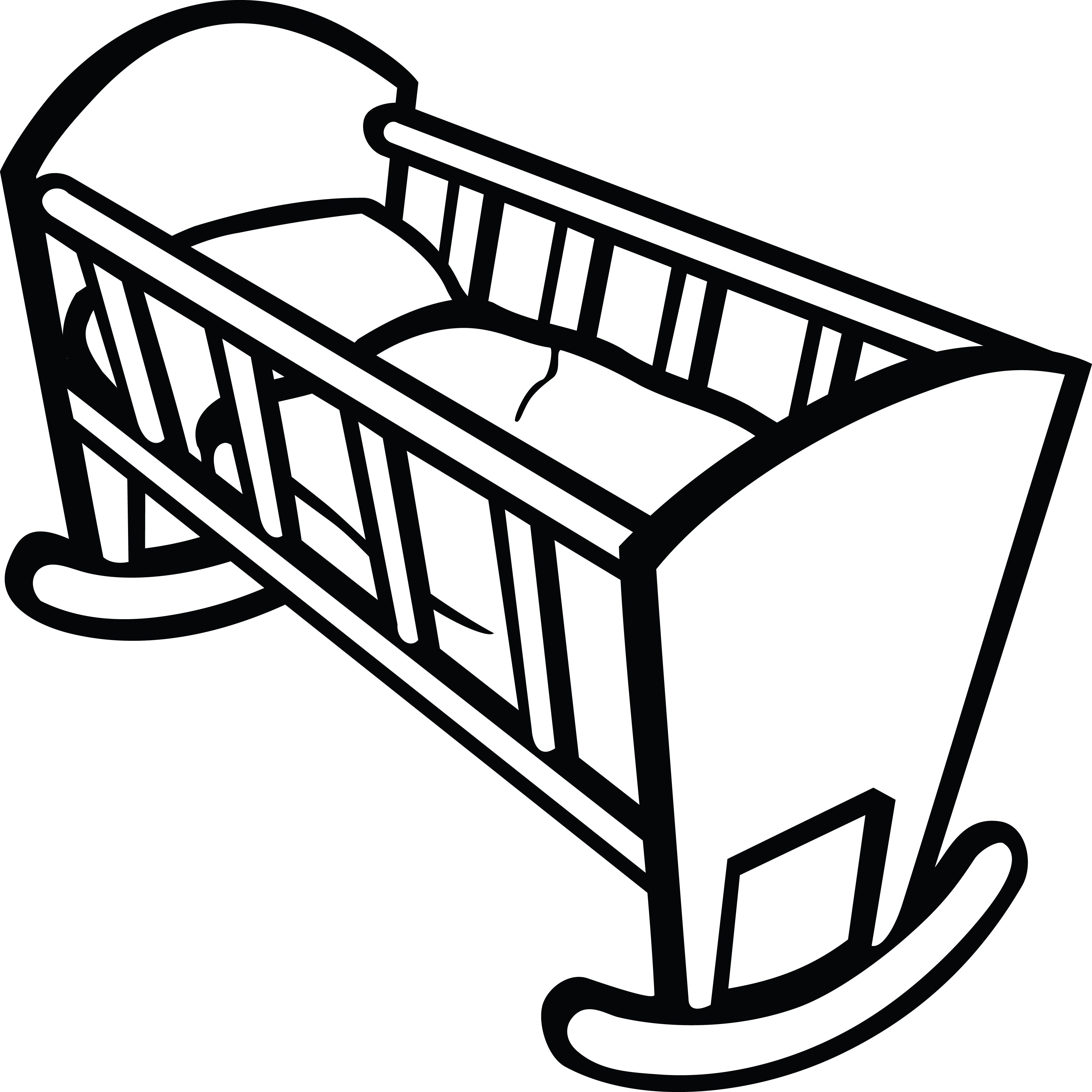 Clipart Of A baby crib.