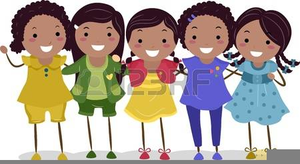 African American Sisters Clipart.