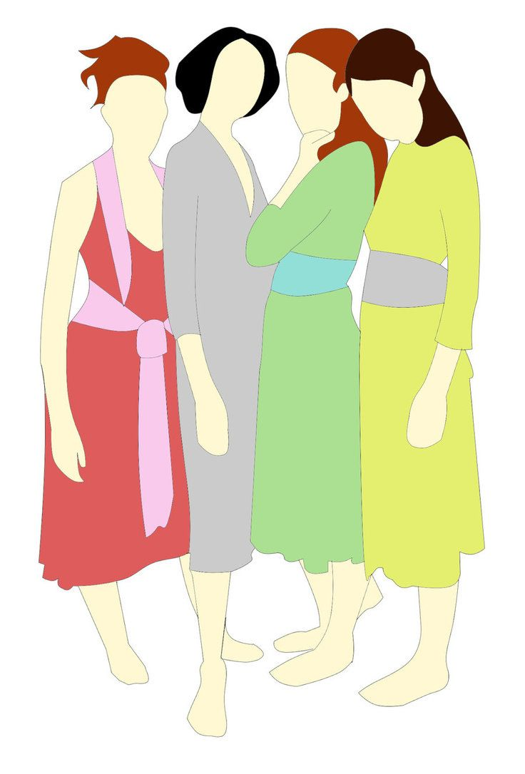 4 Sisters Clipart images.