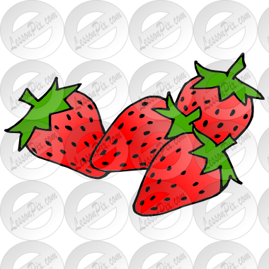 Strawberries Picture for Classroom / Therapy Use.