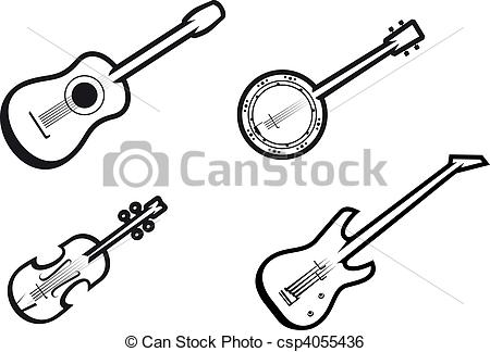 Banjo Clip Art and Stock Illustrations. 769 Banjo EPS.