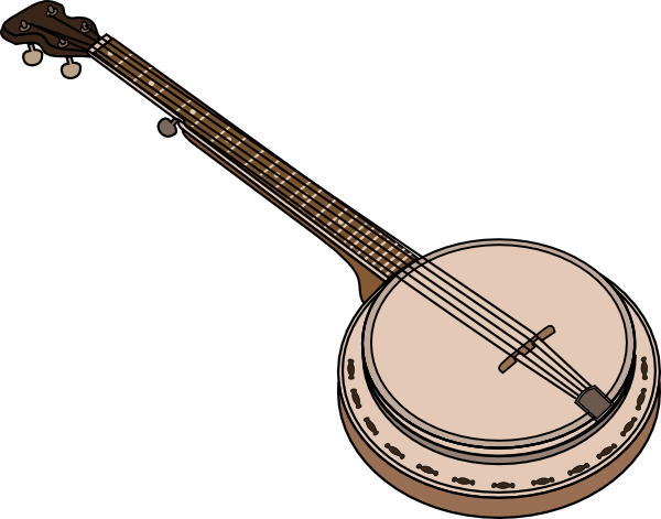 Banjo Clip Art at Clker.com.