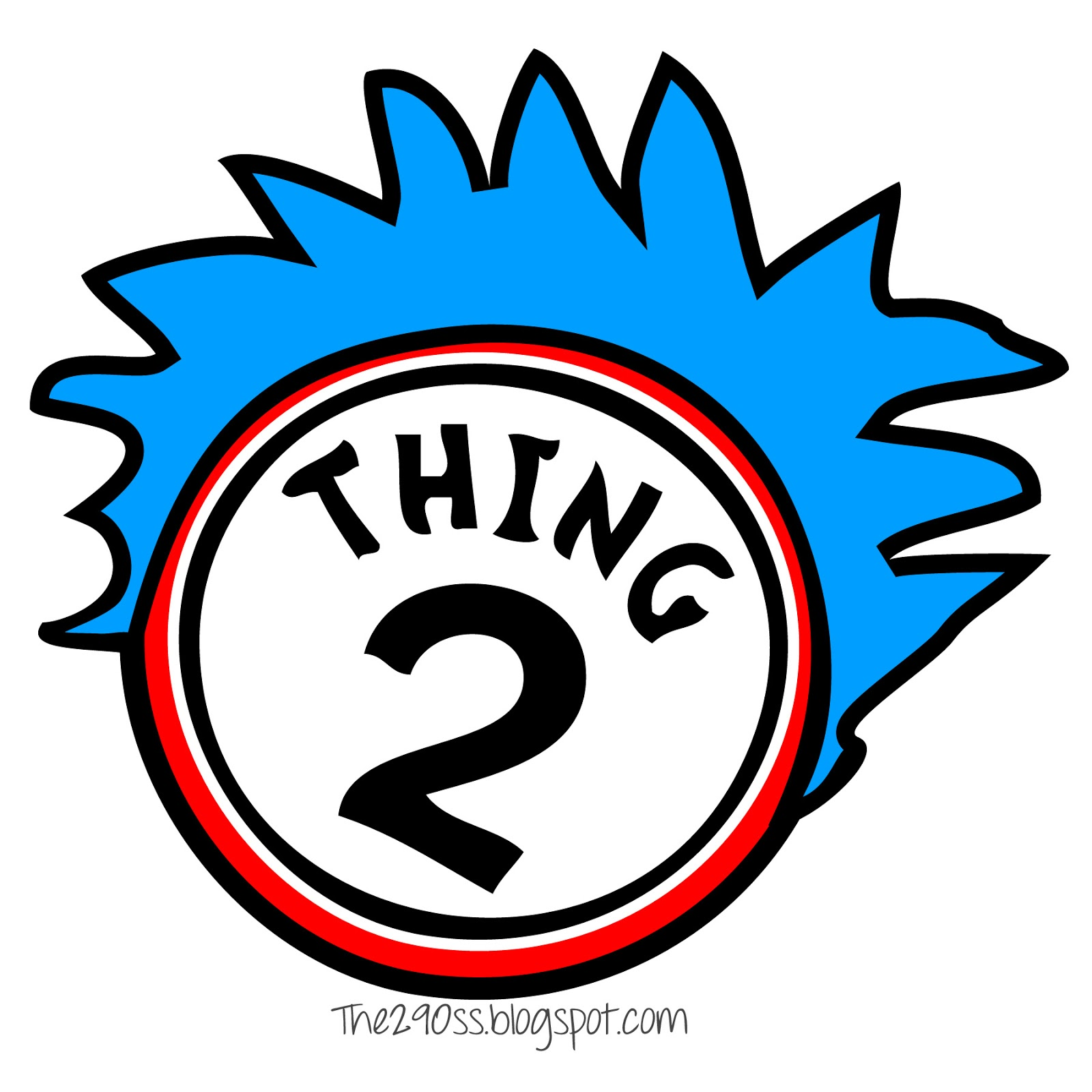 Thing 1 thing 2 clipart 4 » Clipart Station.