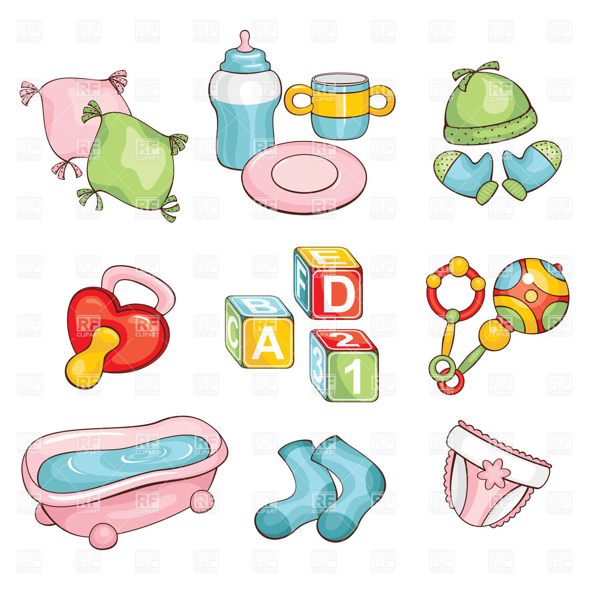 Baby things clipart 4 » Clipart Station.