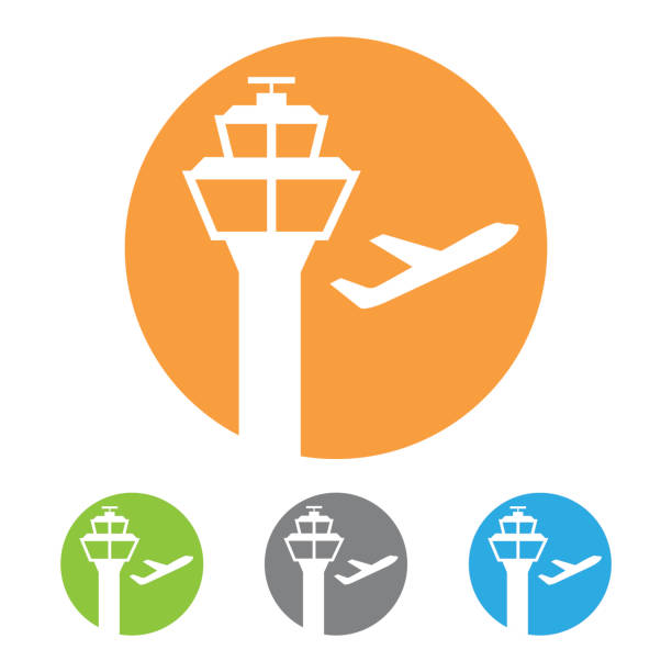 Air Traffic Control Radar Dome Tower Clip Art, Vector Images.