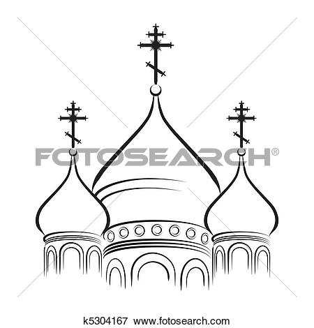 Clip Art of The Cathedral Domes k5304167.