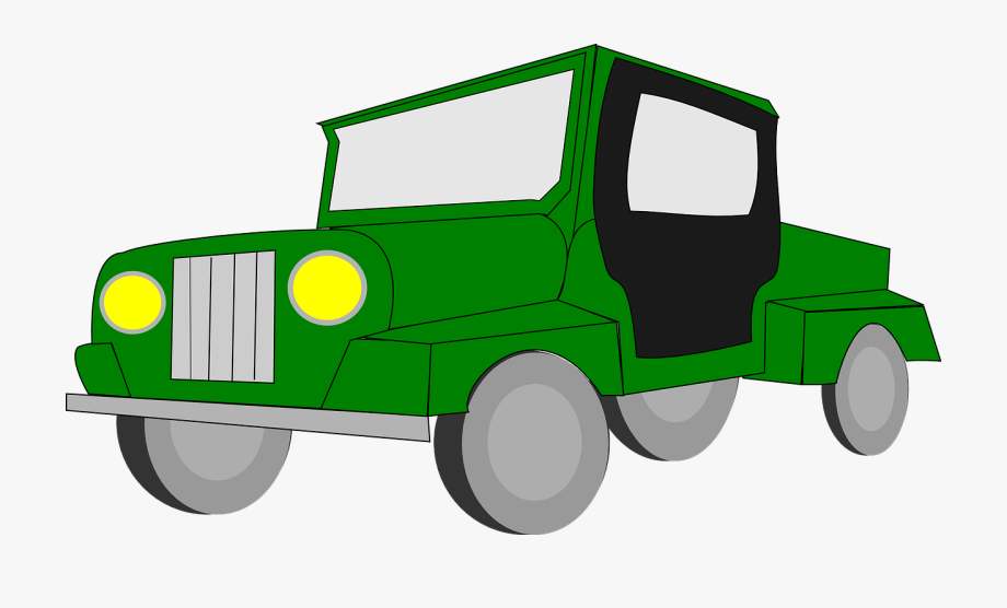 Tractor Clipart Four Wheel Drive.